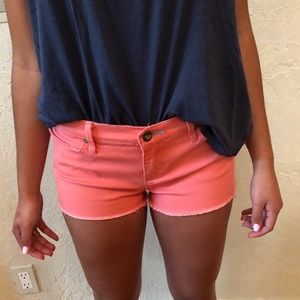 Roxy Peach Colored Jean Shorts